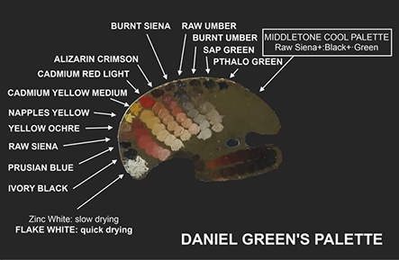 paleta de colores para retrato