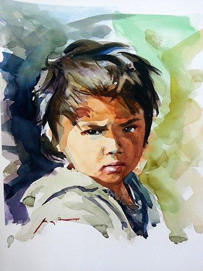 Pintando un retrato