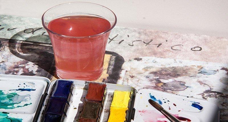 agua y pigmento