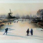 Nueva Demo: Pintando en acuarela un paisaje invernal