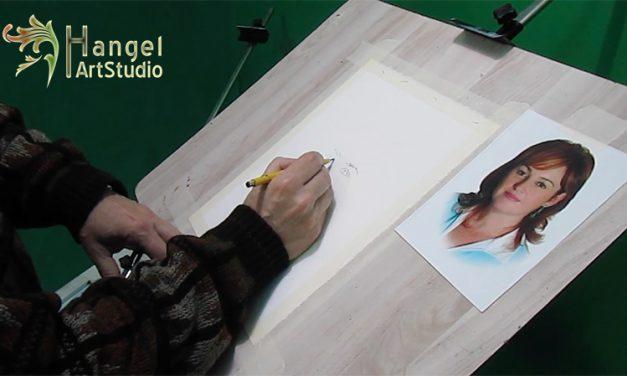 Demo. Retrato en acuarela en pequeño formato