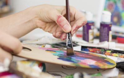 Paleta de madera para pintar al óleo o al acrílico